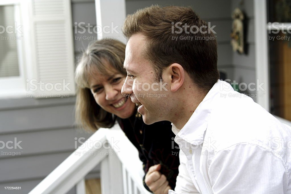 mother and son laughing royalty-free stock photo