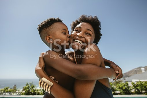 istock Mother and son love 1254014457