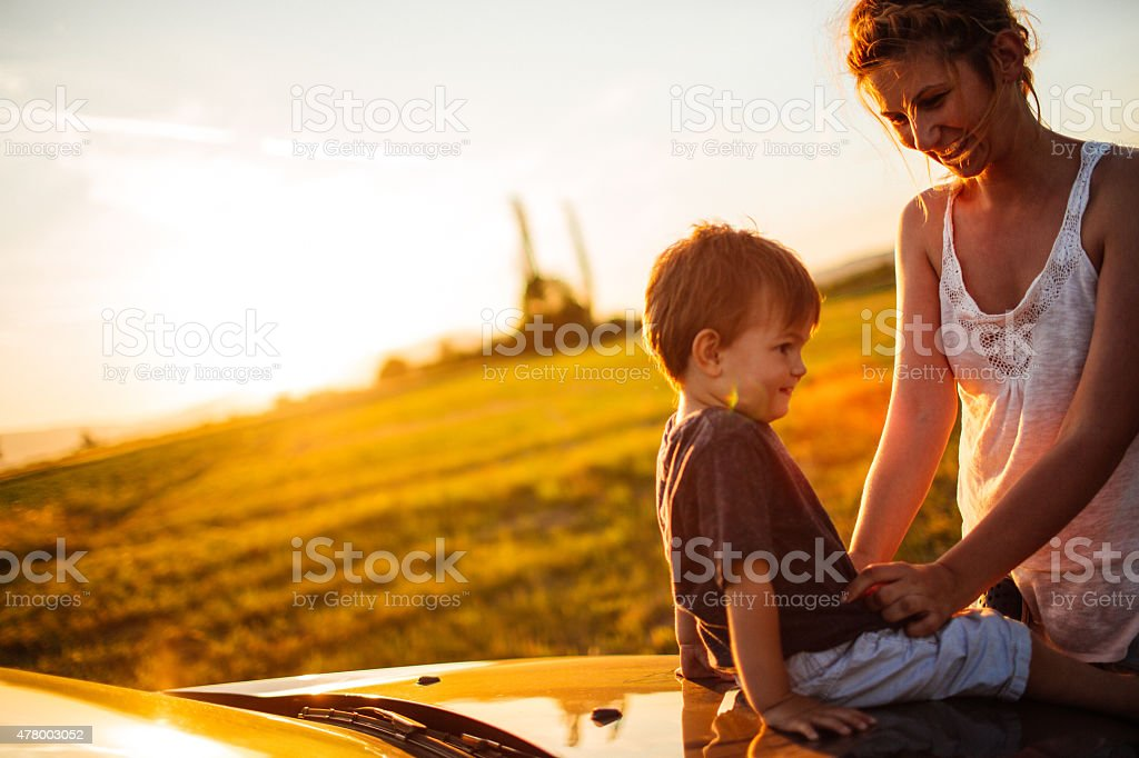 Mom son road trip porn