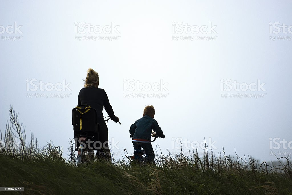 Mother and son on adventure royalty-free stock photo