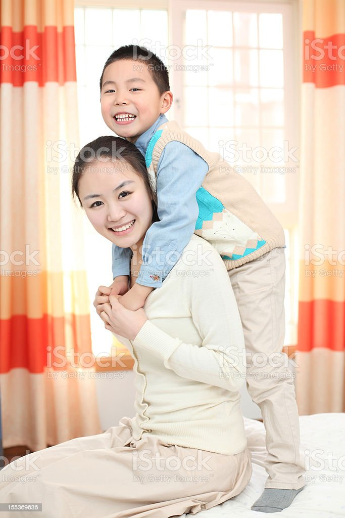 mother and son royalty-free stock photo