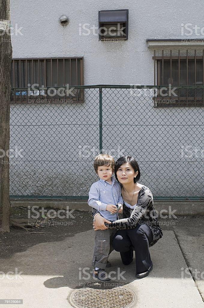 구슬눈꼬리 및 son royalty-free 스톡 사진