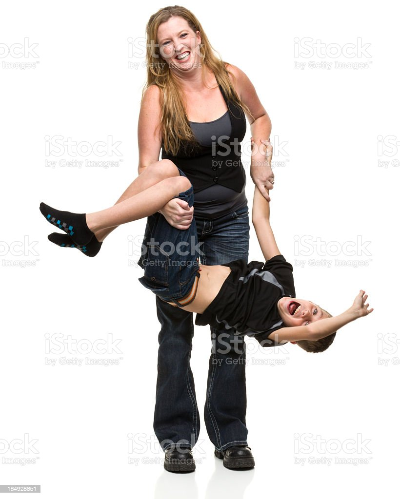 Mother and Son Playing royalty-free stock photo