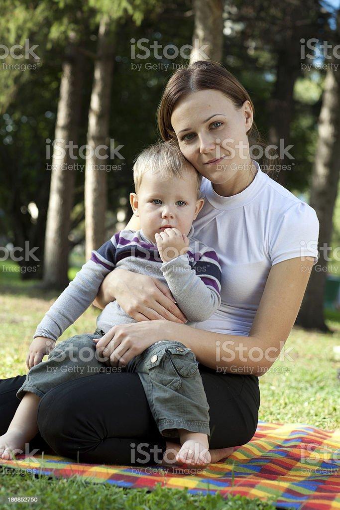 Mutter und Sohn Porträt – Foto