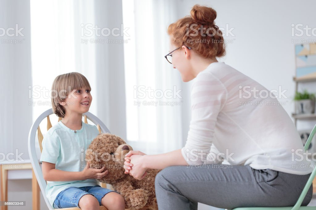 Mother and son relationship stock photo