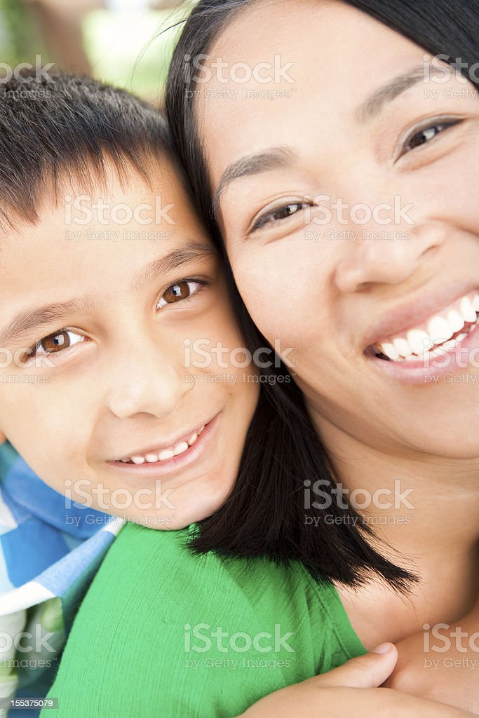 Mother and son summer portrait royalty-free stock photo