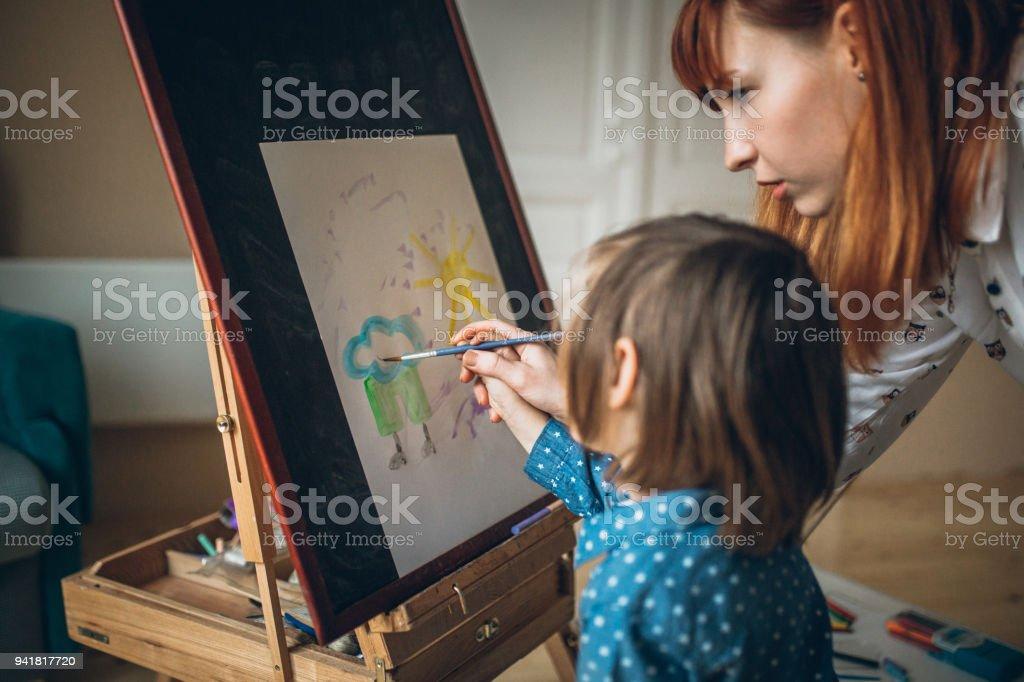 Mutter und Sohn Teamarbeit – Foto