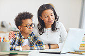 istock Mother and Son Using Laptop 1225545084