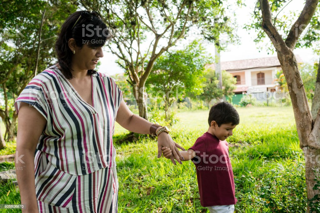 Mother and son happy moments