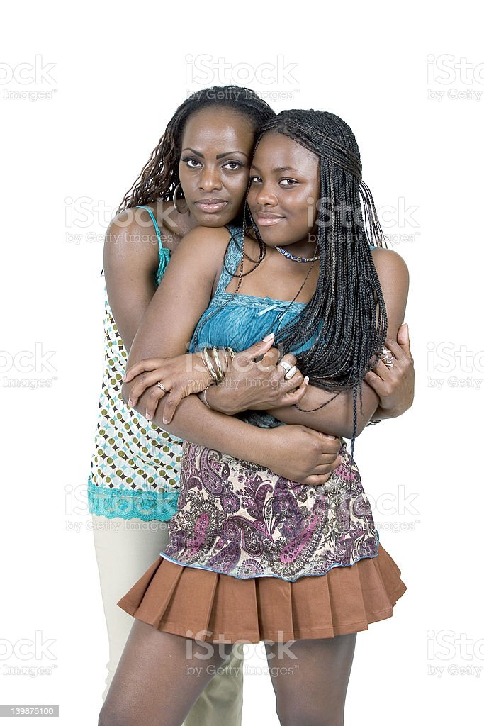 Mother and Teen dughter royalty-free stock photo