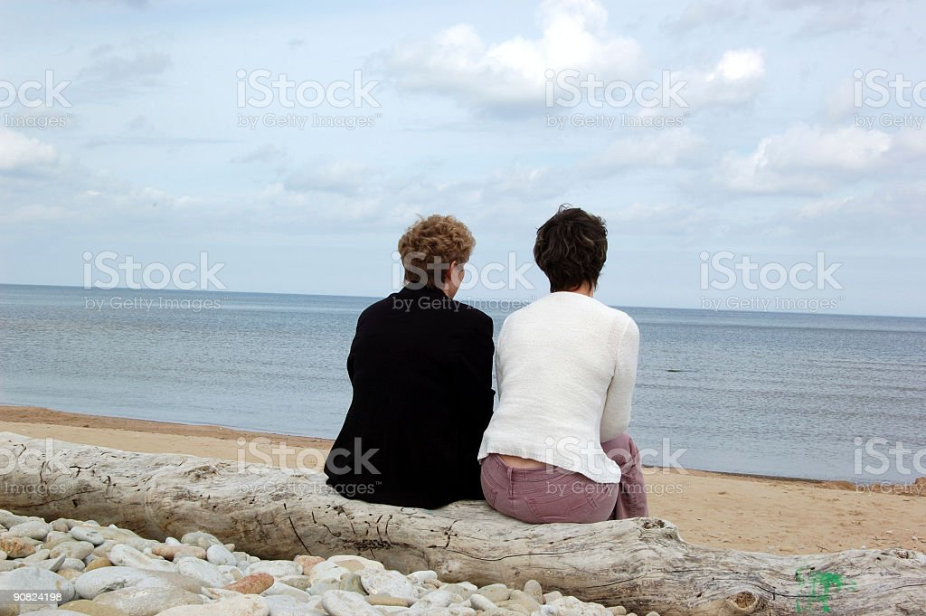 Mother and the daughter royalty-free stock photo