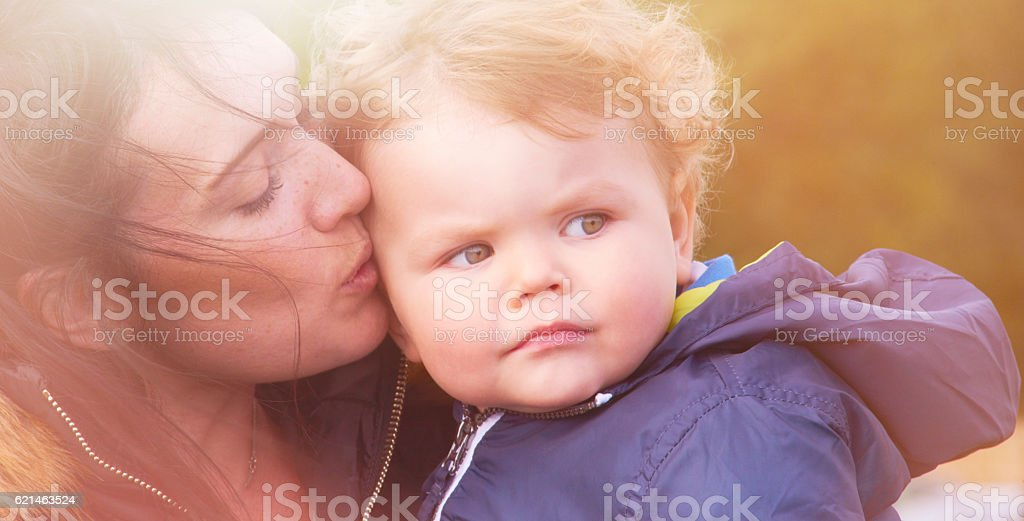 Mother and toddler love stock photo