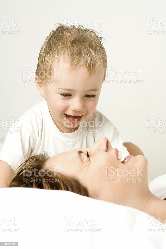 Mother and toddler royalty-free stock photo
