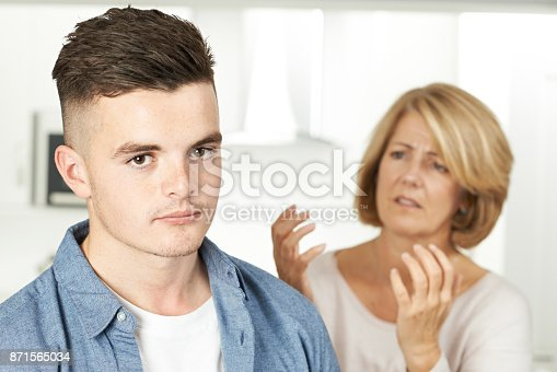 istock Mother Arguing With Teenage Son At Home 871565034