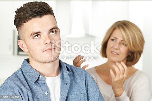 istock Mother Arguing With Teenage Son 653116938
