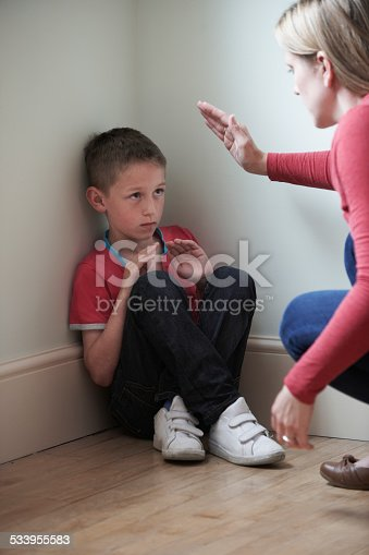 istock Mother Being Physically Abusive Towards Son At Home 533955583