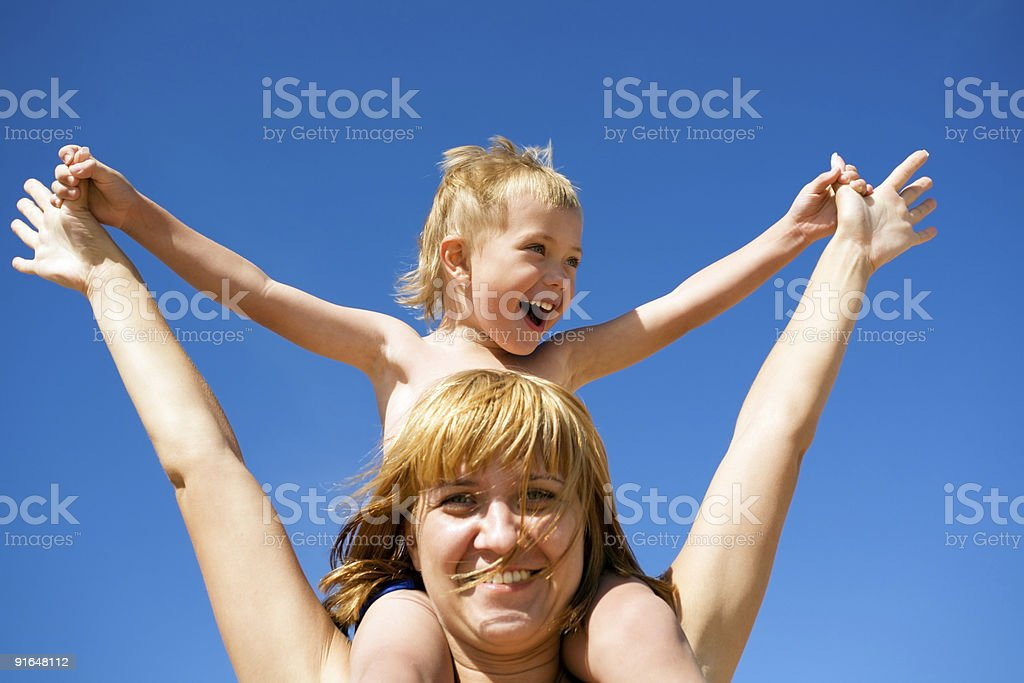 Mother & child(son) royalty-free stock photo