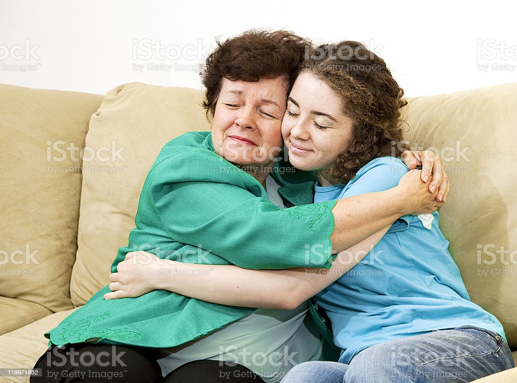 Mother Daughter Love stock photo