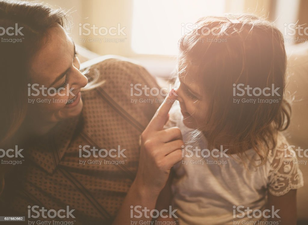 Mother Daughter Love. stock photo