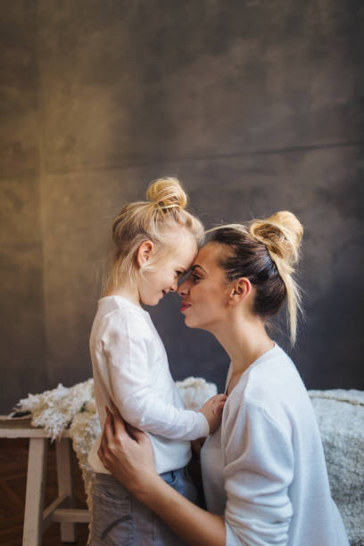 Mother daughter moments stock photo