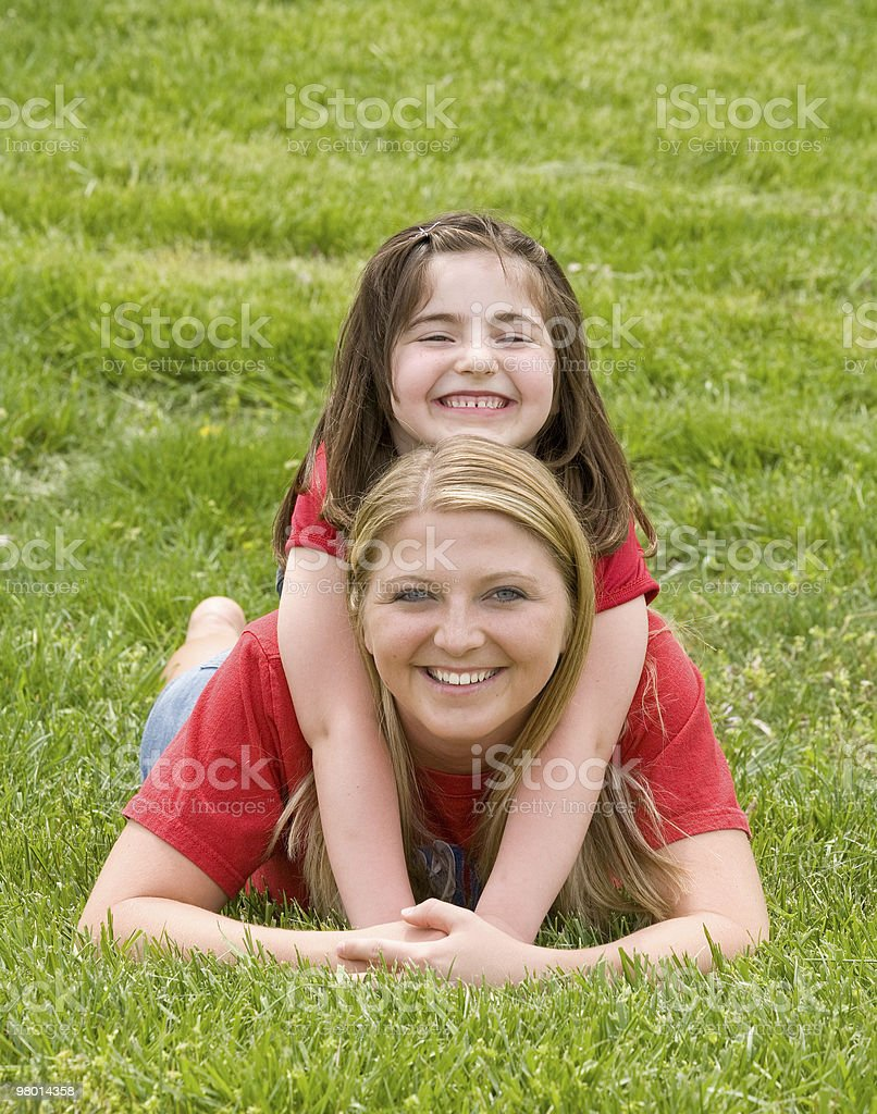 Mother Daughter Playing royalty-free stock photo
