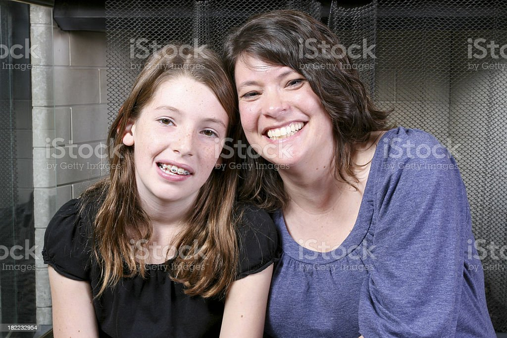 Mother Daughter Portrait stock photo