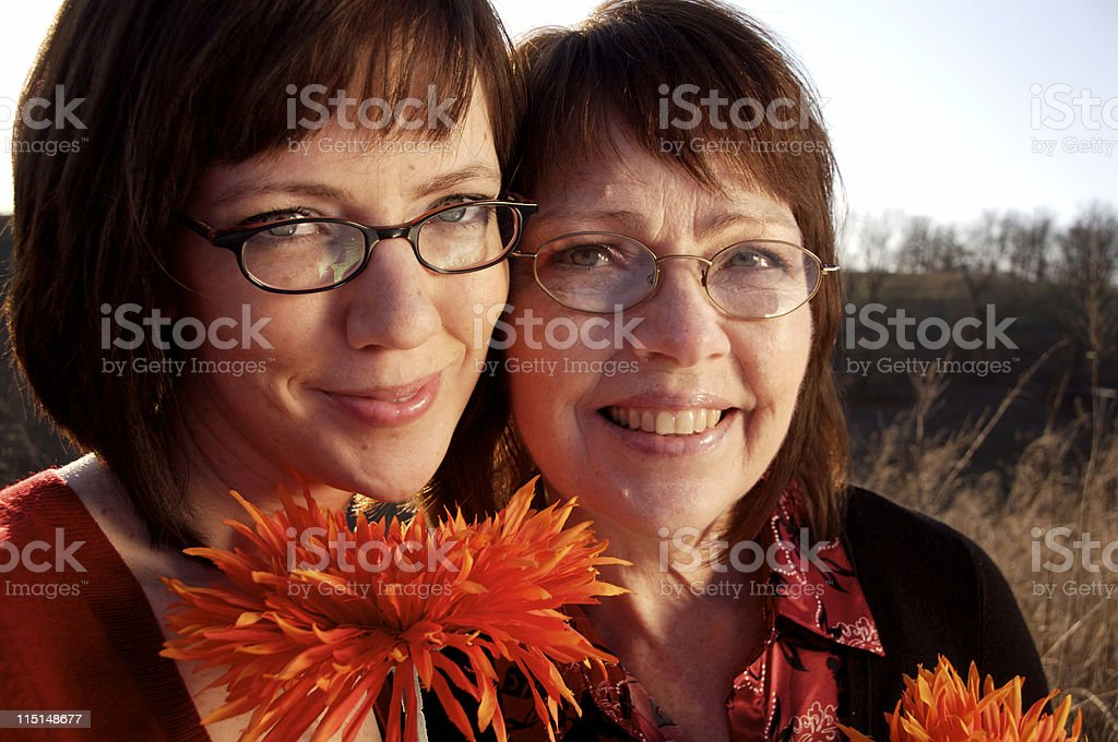 mother daughter spring portraits royalty-free stock photo