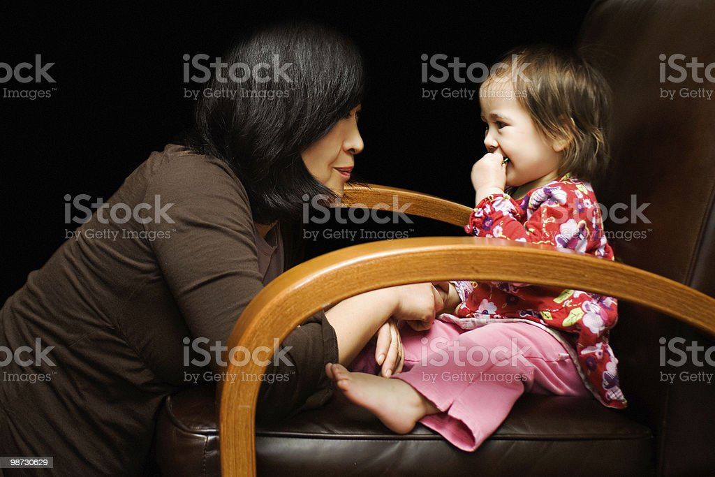 Mother Daughter Talk royalty-free stock photo