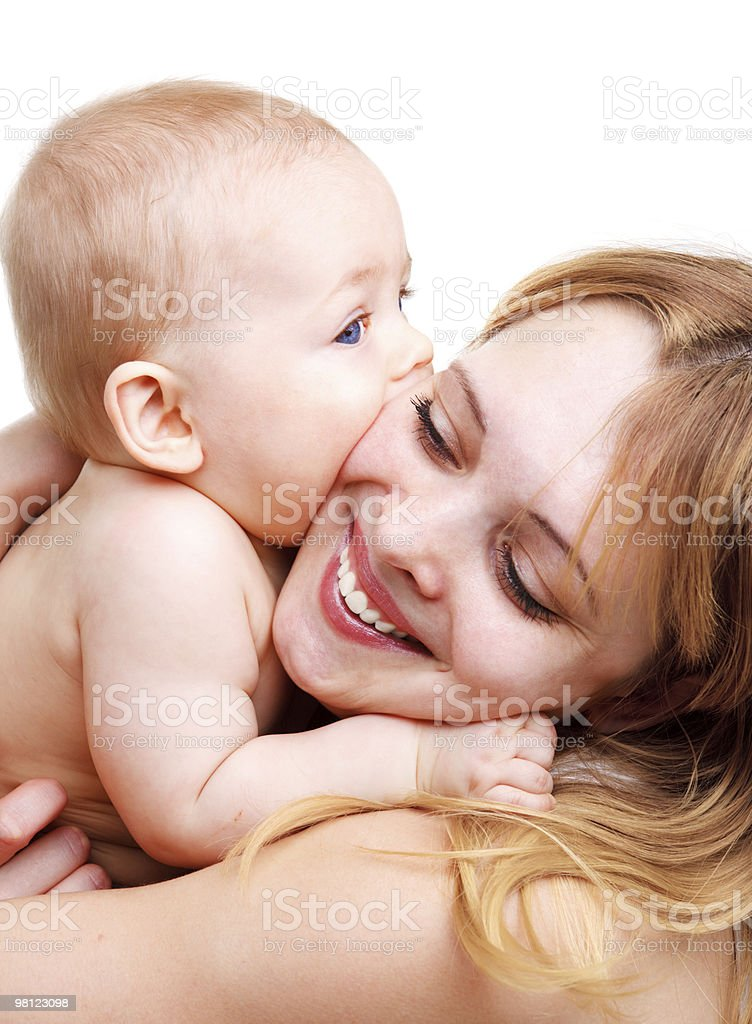 Mother embracing baby royalty-free stock photo