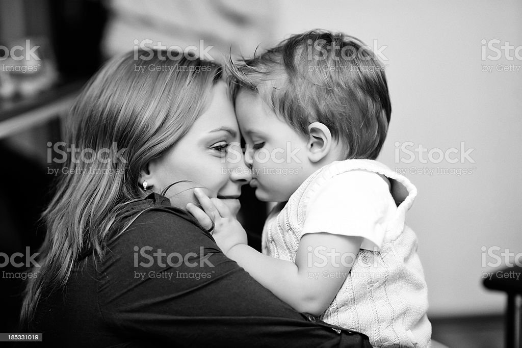 mother embracing child royalty-free stock photo