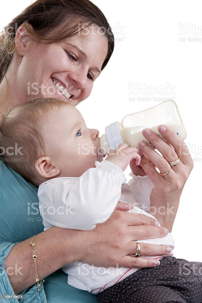mother feeding hert baby royalty-free stock photo
