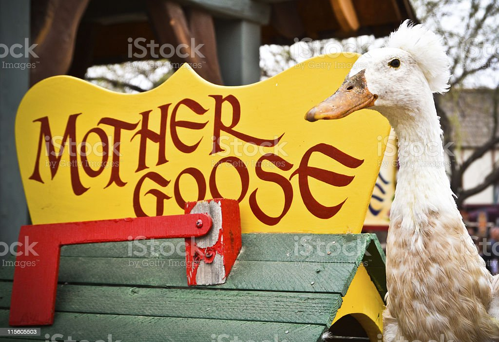 Mother Goose stock photo