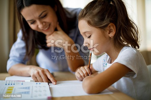 istock Mother helping daughter with homework 1033164288