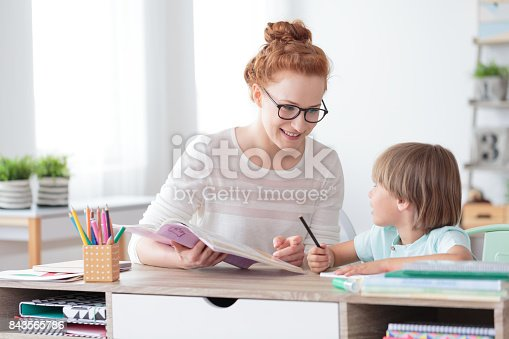 1020504438istockphoto Mother helping son with homework 843565786