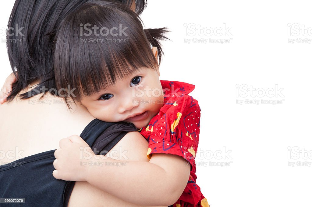 Mother holding little daughter royalty-free stock photo