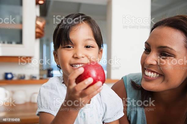 Mother in kitchen with daughter holding red apple picture id461316459?b=1&k=6&m=461316459&s=612x612&h=yuwwdvddpd ldssi mnx5 pr6o55tnyxh1gum5mhnh8=