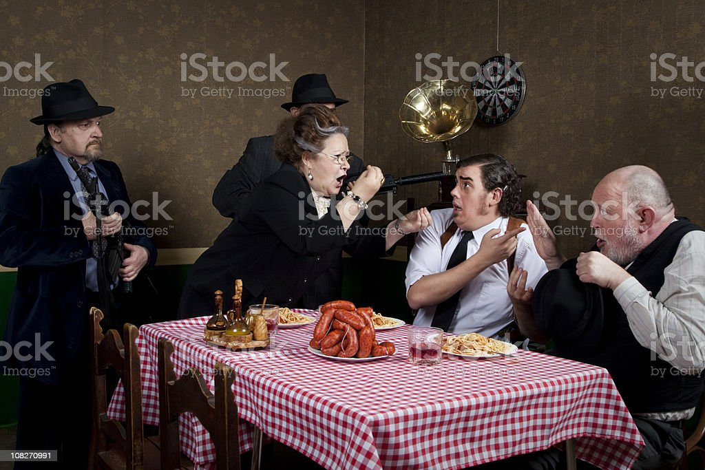 Mama mafia royalty-free stock photo