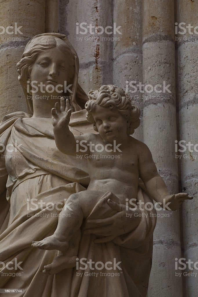 Mother Mary statue royalty-free stock photo