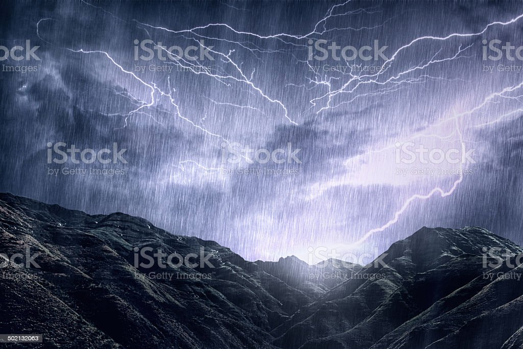 Mother Nature unleashes her rage stock photo