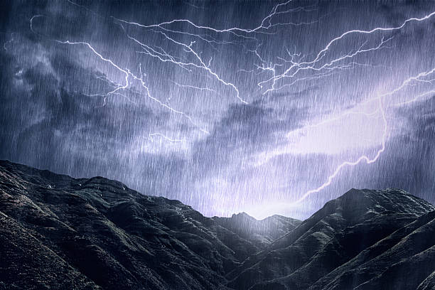 mother nature unleashes her rage - dramatic sky stock photos and pictures