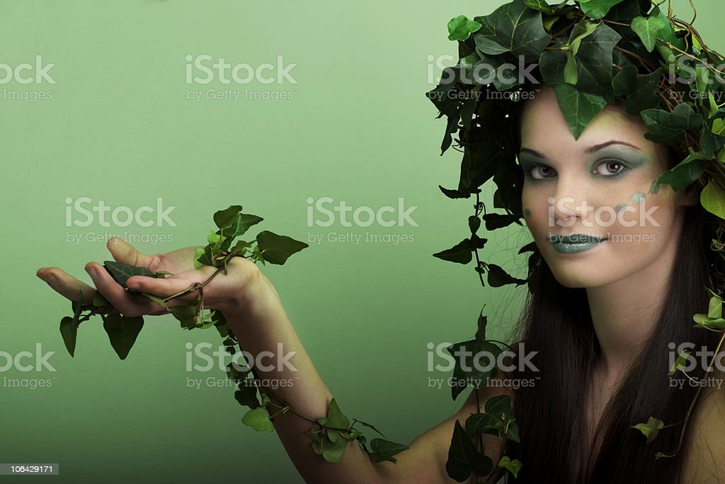 Mother Nature With Palm Up royalty-free stock photo