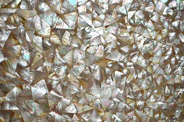 mother of pearl abstract mosaic background - mother of pearl stock photos and pictures