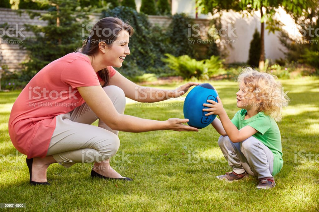 Mother playing with child royalty-free stock photo