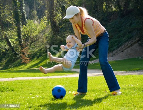 istock Mother playing with son 157198637