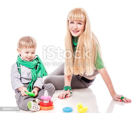 istock Mother playing with son 836652778