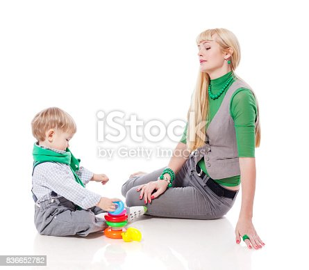 istock Mother playing with son 836652782