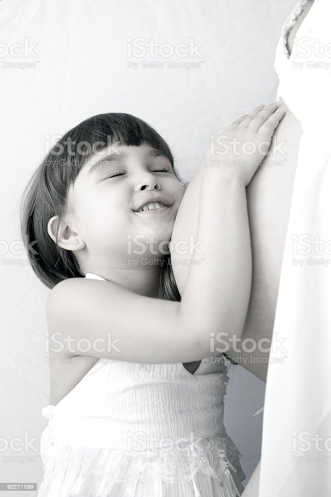 Mother pregnancy and child stock photo