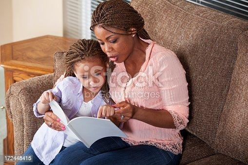 istock Mother reading to daughter 172448415