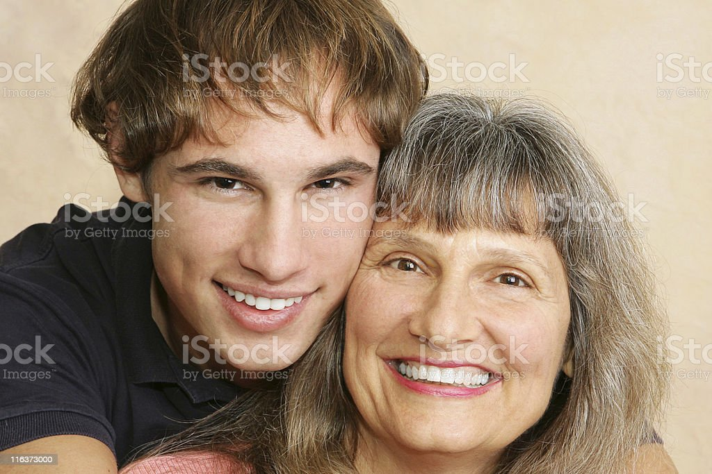 Mother & Son Closeup royalty-free stock photo