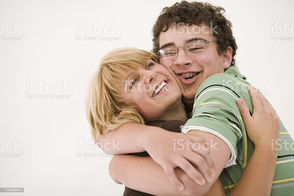 Mother & Son stock photo